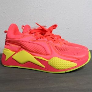 Puma Womens RS-X Soft Case pink Yellow Shoes